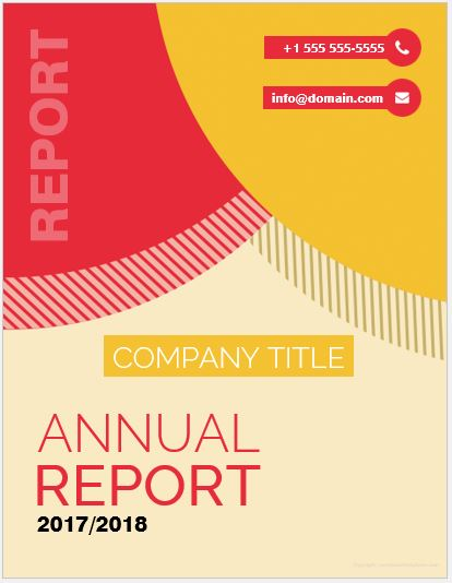 Report Cover Page Templates For Ms Word  Word  Excel Templates