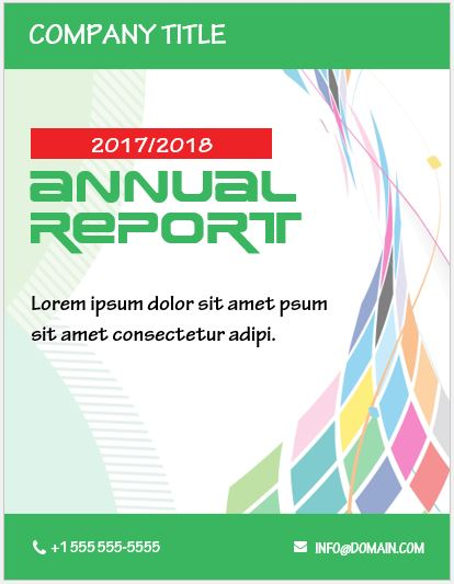 Report Cover Page Template for MS Word