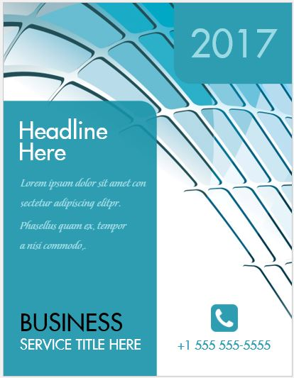 business cover page template
