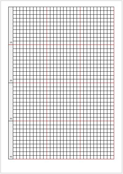 Cross Stitch Graph Papers For Ms Word | Word & Excel Templates