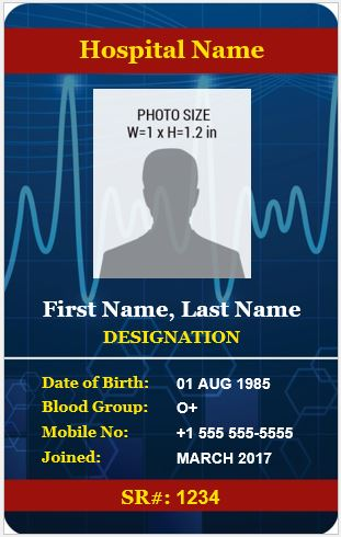 Doctor Photo ID Badge Template