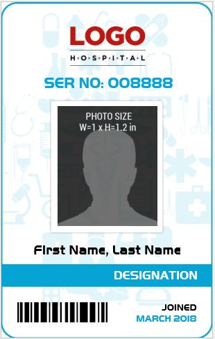 Doctor 39 s photo id badge templates for ms word word for Id badge template free