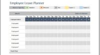 Employee Leave Planner Template