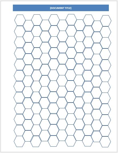 hexagonal graph papers for ms word