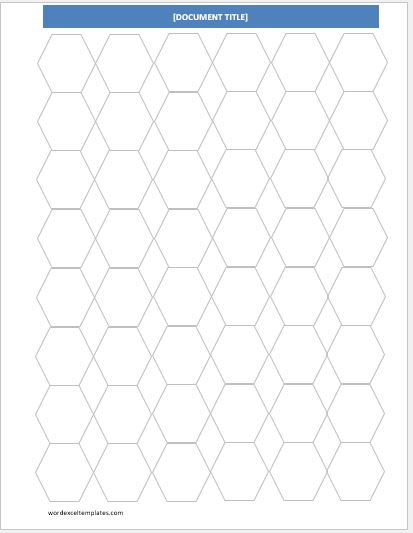 image about Printable Hexagon Grid known as Hexagonal Graph Papers for MS Term Term Excel Templates