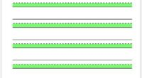 Penmanship Paper Highlighted Green
