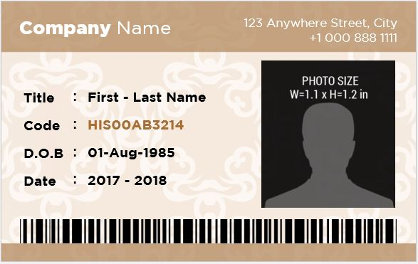 Banker Photo ID Badge Template