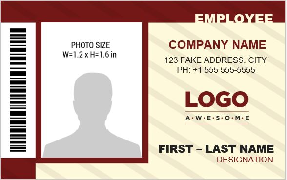 banker 39 s photo id badge templates for ms word word. Black Bedroom Furniture Sets. Home Design Ideas