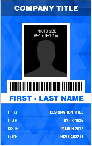 Banker'S Photo Id Badge Templates For Ms Word | Word & Excel Templates