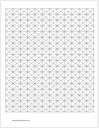 Isometric Graph Paper 0.5 inch