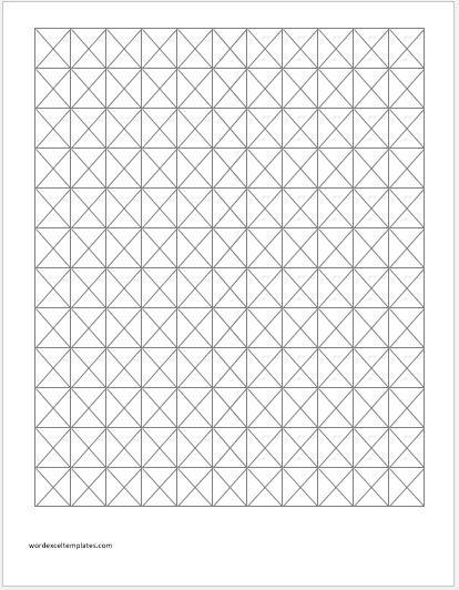 photograph about Printable Knitting Graph Paper called Knitting Graph Papers for MS Phrase Term Excel Templates