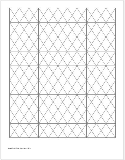 Isometric Graph Paper 1 inch
