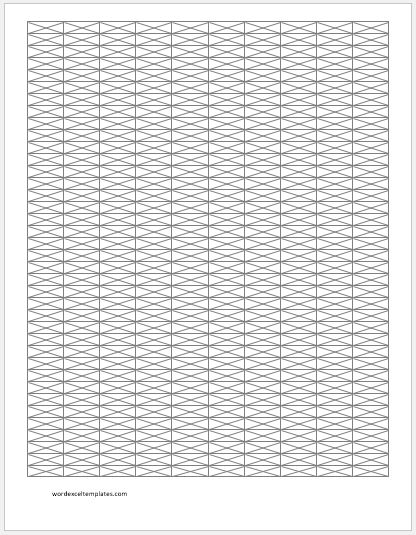 Isometric Graph Paper 0.25 inch