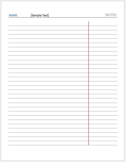 Law Ruled Paper -Reversed