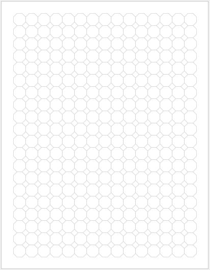 Octagon Graph Paper 0.50 inch