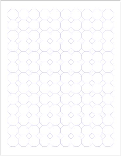 Octagon Graph Paper 0.75 inch
