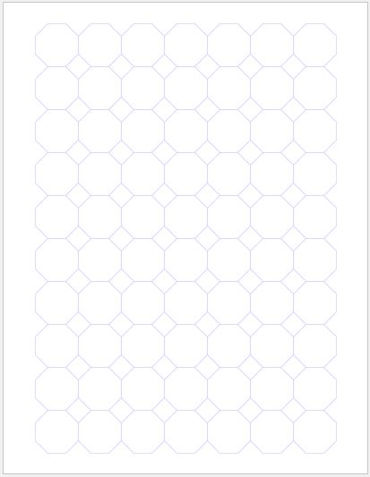 Octagon Graph Paper 1 inch