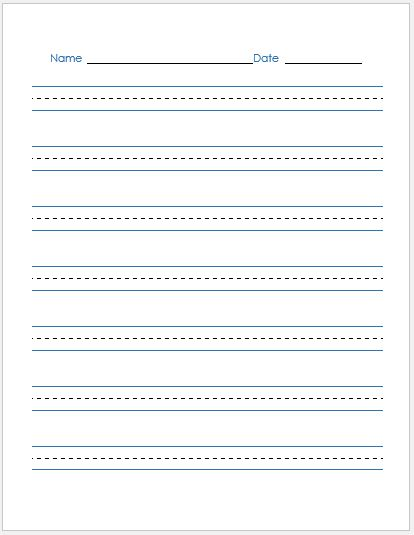 penmanship paper templates for ms word word excel templates