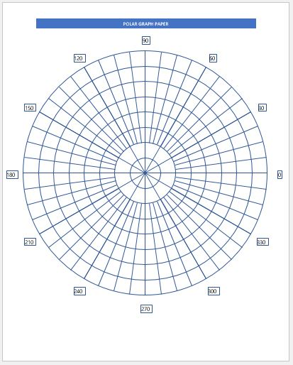 graphic regarding Printable Polar Graph Paper named Polar Graph Paper Samples for MS Phrase Term Excel Templates