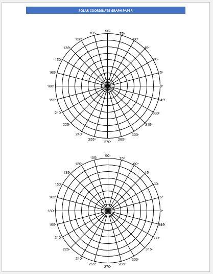 Polar Graph Paper 2 per page
