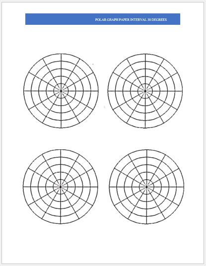 Polar Graph Paper Samples For Ms Word Word Amp Excel Templates