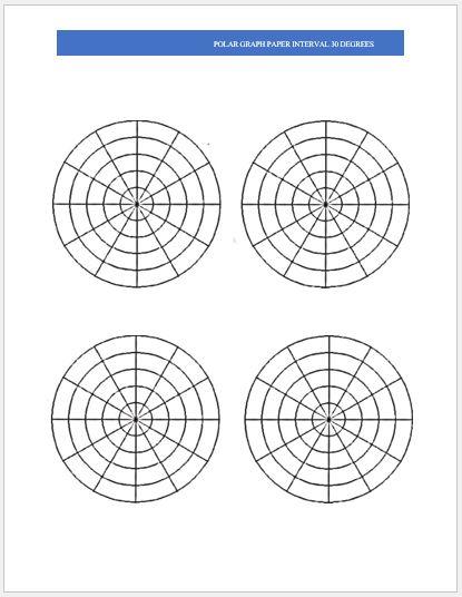 Polar Graph Paper 4 per page