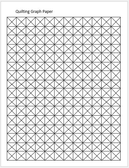 Quilt Patterns On Graph Paper : Quilting Graph Papers for MS Word Word & Excel Templates