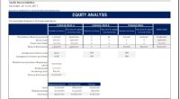 Shareholder Equity Report Worksheet Template