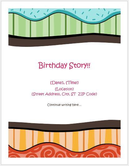 Birthday Storyboard Template