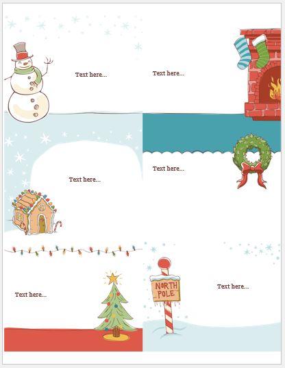 Christmas Storyboard Template