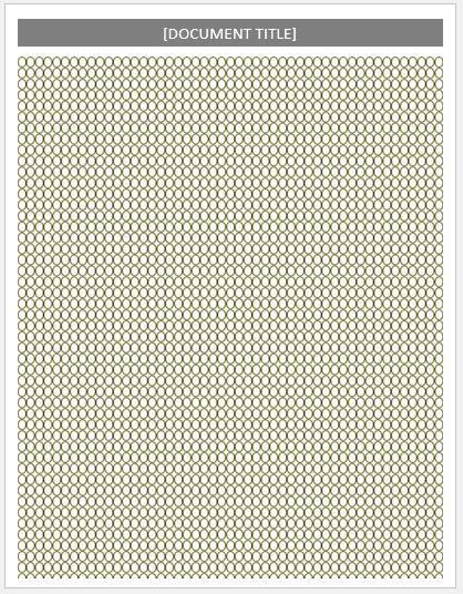 Beadwork Layout Paper Template