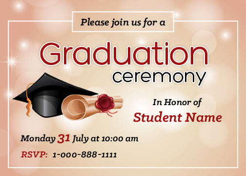 graduation party invitation cards for ms word