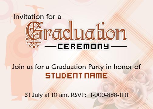 Graduation Party Invitation Card
