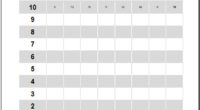 Mexican Train Score Sheet Template for Excel