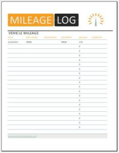 10 vehicle mileage log templates for ms excel word excel templates