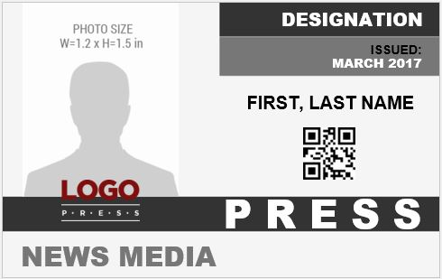Press Photo ID Badge