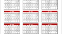 Vacation Calendar Template 2017-18