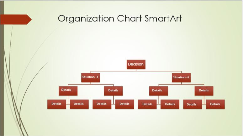 Decision tree diagram template