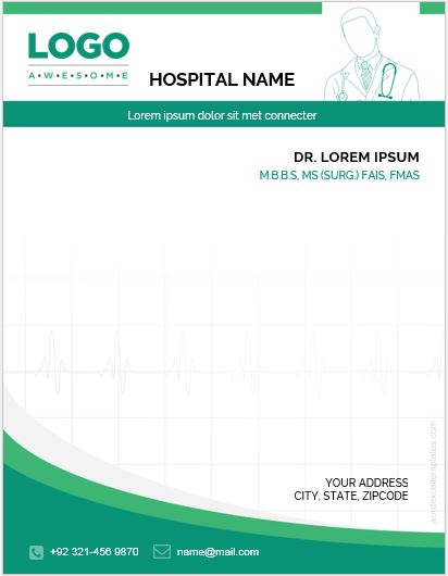 MS Word Editable Doctor's Letterhead Template