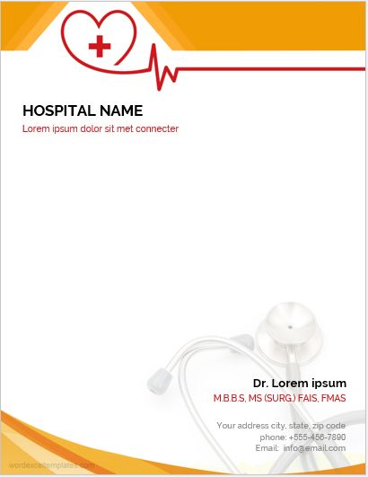 Doctors Letterhead Template for MS Word