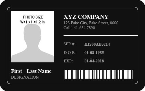 Employee Photo ID Badge