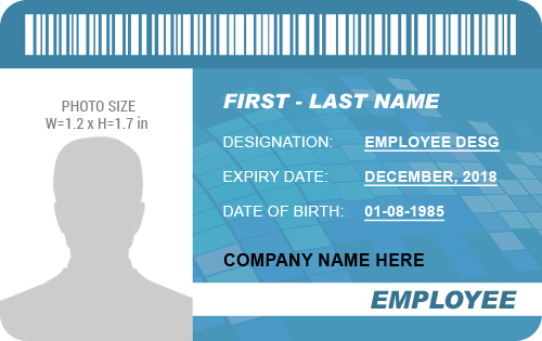 Professional Employee Photo Id Badges For Ms Word Word