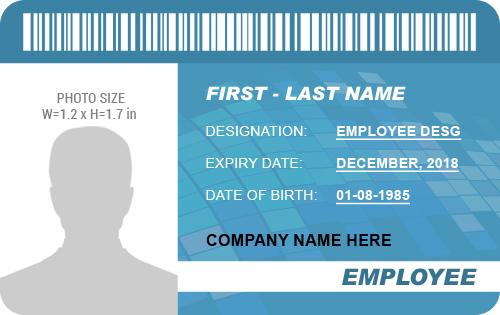 Employee Photo ID Badge Template