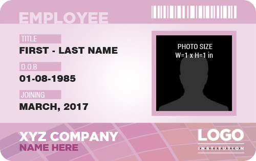 Employee ID Badge MS Word