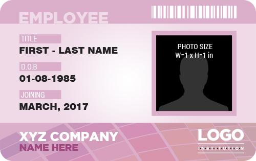 Employee ID Badge MS Word