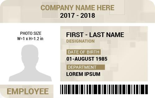MS Word Employee Photo ID Badge