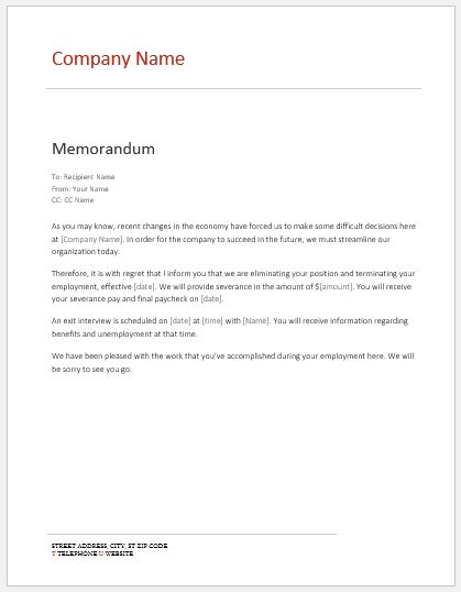 Internal Memo Templates For Ms Word Word Amp Excel Templates
