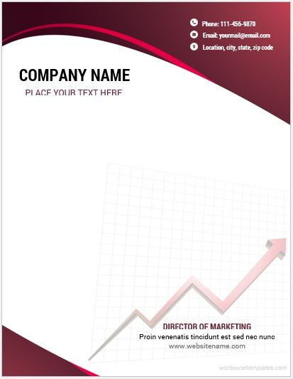 10 best ms word company letterhead templates word excel templates company letterhead template thecheapjerseys Gallery