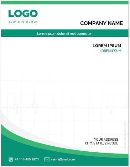 2018 Business Letterhead Template MS Word