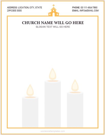 5 Best Ms Word Church Letterhead Templates Word Amp Excel